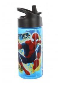 Boys Blue Spiderman Bottle