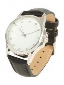 Womens Black Strap Watch