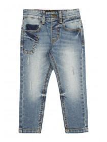 Younger Boys Blue Skinny Jeans