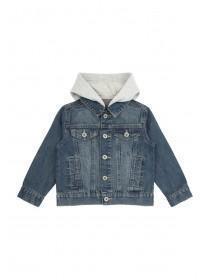 Younger Boys Blue Hooded Denim Jacket