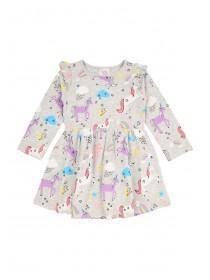 Younger Girls Frill Unicorn Dress