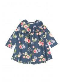 Younger Girls Navy Floral Dress