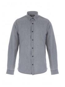 Mens Light Grey Denim Shirt