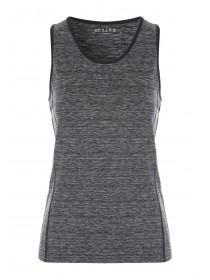 Womens Grey Space Dye Sports Vest