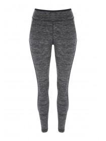 Womens Grey Space Dye Leggings