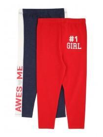 Younger Girls 2pk Sporty Leggings