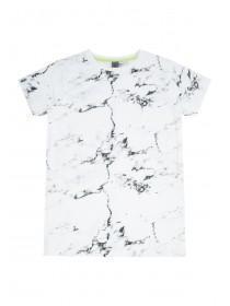Older Boys White Marbled T-Shirt