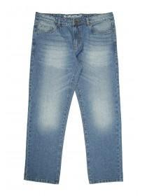 Mens Mid Blue Straight Leg Entry Jeans