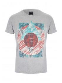 Mens Grey Graphic T-Shirt