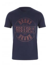 Mens Navy Graphic T-Shirt