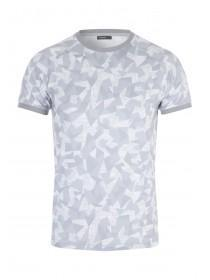 Mens Grey Geo Camo T-Shirt
