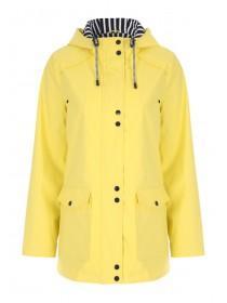 Womens Yellow Mac Coat