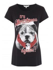 Womens Christmas Dog T-Shirt