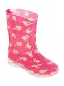 Younger Girls Pink Mermaid Light Up Wellies