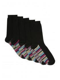 Womens Black 5pk Socks