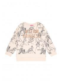 Younger Girls Pink Princess Slogan Sweater