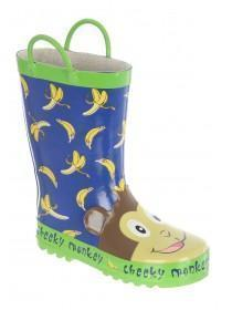 Younger Boys Blue Monkey Wellies