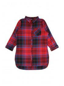 Older Girls Blue and Red Check Shirt