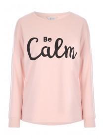 Womens Pink Slogan Sweater