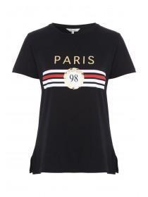 Womens Black Slogan T-Shirt