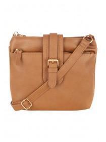 Womens Tan Across Body Bag