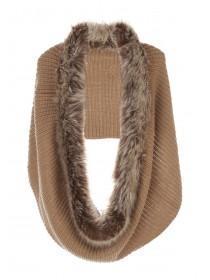 Womens Fur Trim Snood