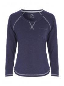 Womens Navy Lounge Top