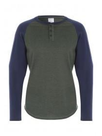 Mens Green Long Sleeve Lounge Top