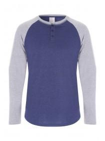 Mens Grey Long Sleeve Top