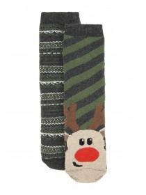 Boys 2Pk Slipper Socks