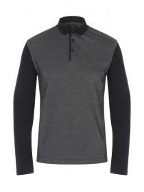 Mens Long Sleeve Bubble Front Polo