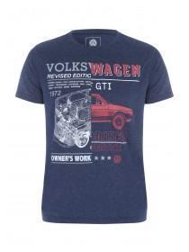 Mens Blue VW Car T-Shirt