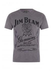 Mens Black Jim Bean Graphic T-Shirt