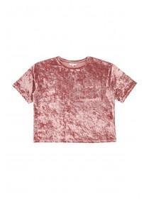 Older Girls Pink Velour Top
