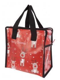 Red Reindeer Lunch Bag