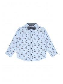 Younger Boys Blue Snowman Shirt Set