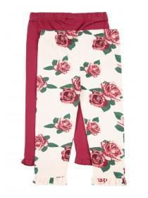 Baby Girls 2pk Rose Leggings