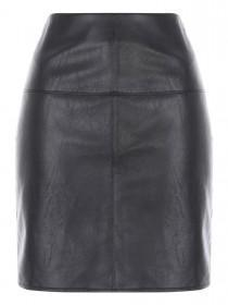 Jane Norman Black PU Mini Skirt