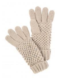 Jane Norman Beige Stud Gloves