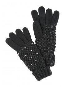 Jane Norman Black Stud Gloves
