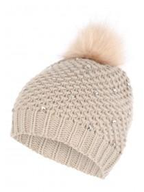 Jane Norman Beige Stud Hat