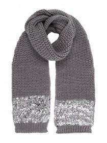 Jane Norman Grey Sequin Scarf