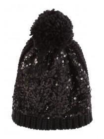 Jane Norman Black Sequin Hat