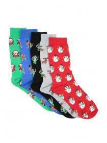 Mens 5pk Festive Socks