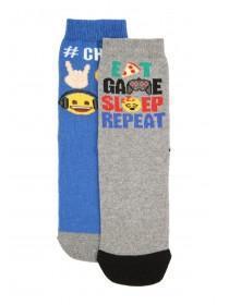 Boys 2pk Emoji Socks