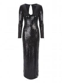 Jane Norman Black Sequin Maxi Dress