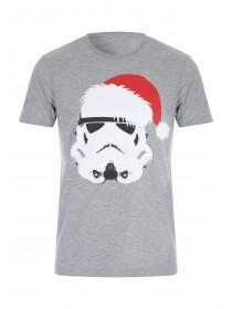 Mens Grey Stormtrooper Santa Top