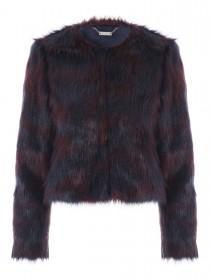 Jane Norman Two Tone Berry Fur Coat