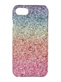 Womens Multicolour Ombre Glitter Rainbow Case