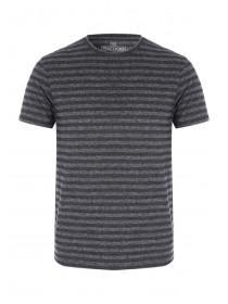 Mens Short Sleeve Textured Stripe T-Shirt